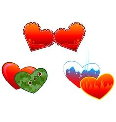 Allegorical symbols of hearts vector image vector image