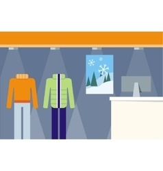 Clothes shop showcase concept vector