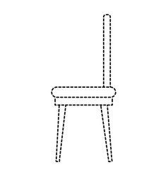 Dining room chair icon vector