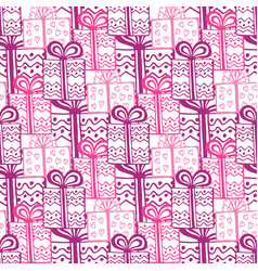 Gift boxes seamless pattern seamless happy vector