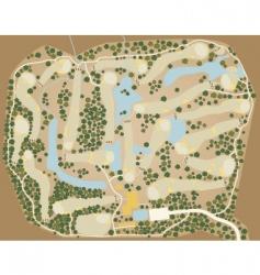 Golf course map vector