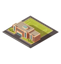 Government education institution building concept vector