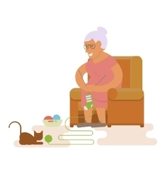 Grandma in chair vector image vector image