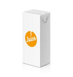 juice or milk package mock up 200ml vector image vector image
