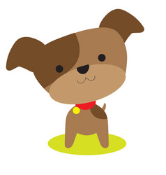 little brown pup vector image vector image