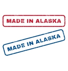 Made in alaska rubber stamps vector