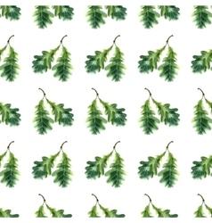 Oak leaf watercolor seamless pattern vector image vector image