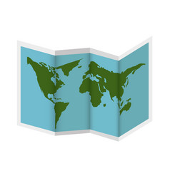 paper map guide icon vector image