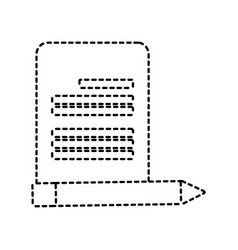 paper page and pencil icon vector image