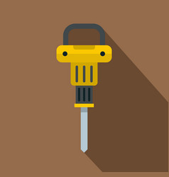 pneumatic hammer icon flat style vector image vector image