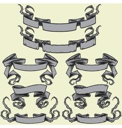 Ribbons and damaged ribbons vector