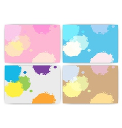 Set texture of colorful set vector image vector image