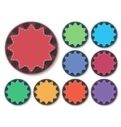 starburst badge vector image vector image