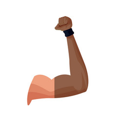 strong arm biceps muscle fitness vector image vector image