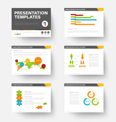 Template for presentation slides 1 vector