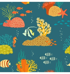 Underwater life pattern vector