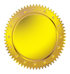 Wax golden seal vector image vector image