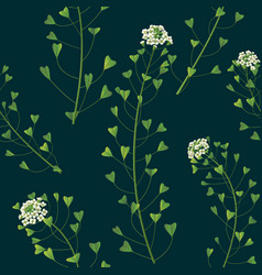 Weed pattern vector