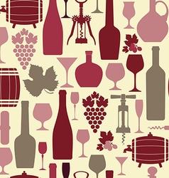 Wine seamless vector