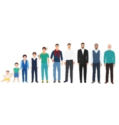 Different age generations of the men male person vector