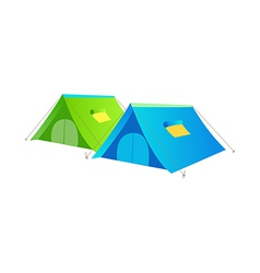 icon tent vector image