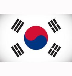National flag of south korea vector