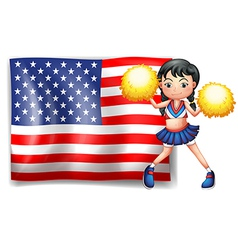 A cheerleader from the usa vector
