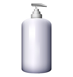 A pump-style lotion bottle vector