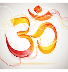 Abstract colorful om sign vector