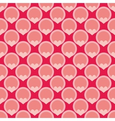 Pink tile background with hearts and polka dots vector