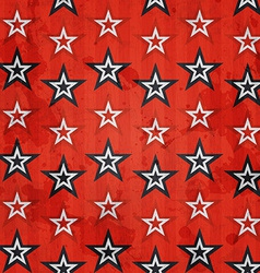 Revolution stars seamless pattern with grunge vector