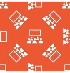 Orange audience pattern vector