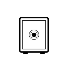 The safe icon safe symbol flat vector
