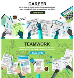 Design concepts for team work and career vector