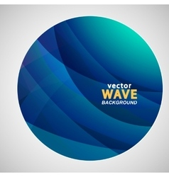 Circle abstract pictures of blue wave color vector