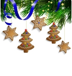 Gingerbread cookies decorations vector