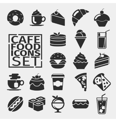 Food black icons vector