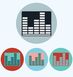 Music equalizer icon set vector