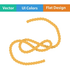 Flat design icon of rope vector