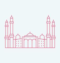 Sanaa the capital of yemen vector