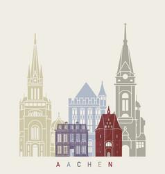aachen skyline poster vector image