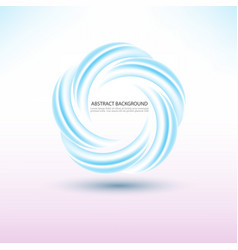 abstract blue swirl circle round frame or banner vector image