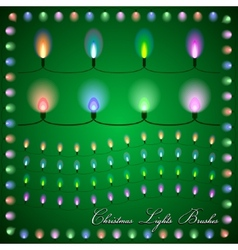 abstract of colorful lights on green background vector image vector image