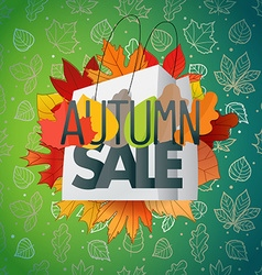 Autumn sale composition with the shopping bag vector image vector image