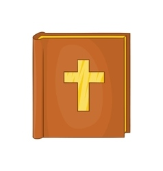 Bible icon in cartoon style vector