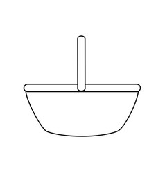 Bread basket icon vector