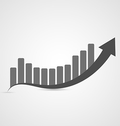 Business graph icon vector image