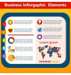 Business infographic flat design vector
