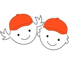 children con 2 vector image vector image
