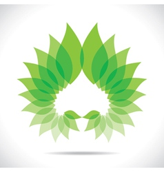 creative green leaf icon vector image vector image